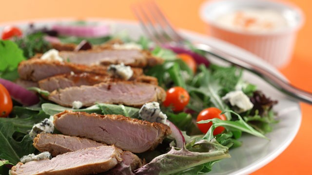 Buffalo-Style Pork Tenderloin Salad