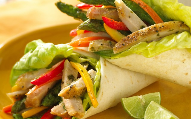 Pork and Veggie Wraps